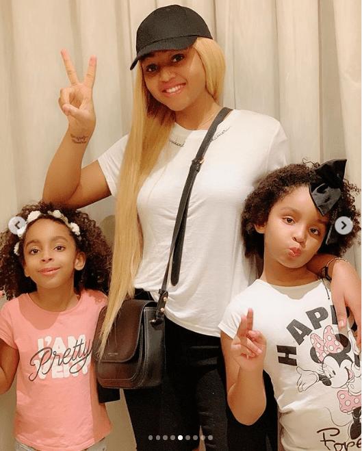 Actress Regina Daniels shares beautiful family photos with her stepchildren