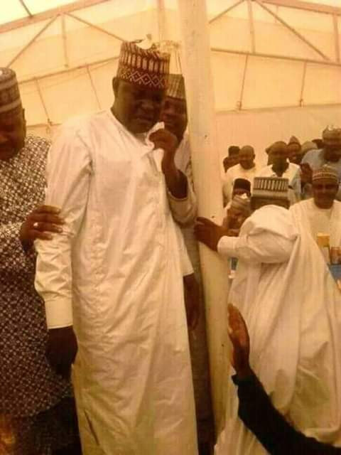 Photos of former Zamfara lawmaker weeping profusely as he begs for forgiveness from APC leaders 3 weeks after defecting to PDP