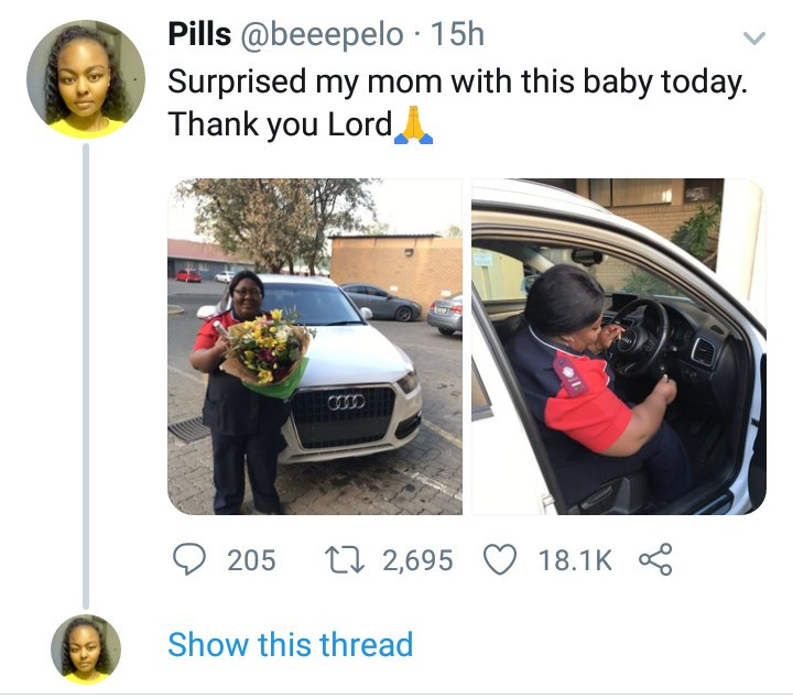 Mum breaks down in tears as her daughter surprised her at work with a car