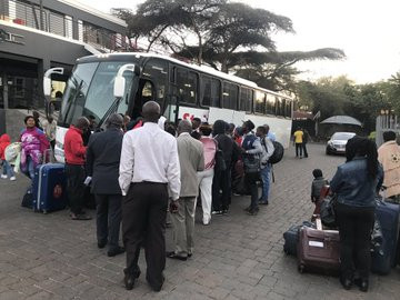 Xenophobia: 320 Nigerians spotted heading to the airport for their flight back to Nigeria (Photos/Video)