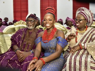 Photos: Bola Tinubu, Bisi Akande, others at Governor Akeredolu daughter's wedding