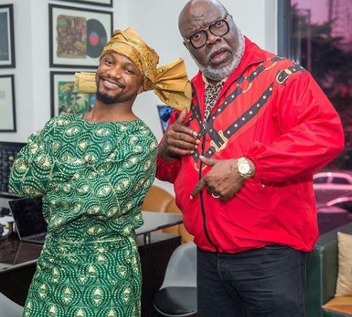 Nigerian comedian, Mama Tobi meets Bishop TD Jakes in Lagos (Photos)