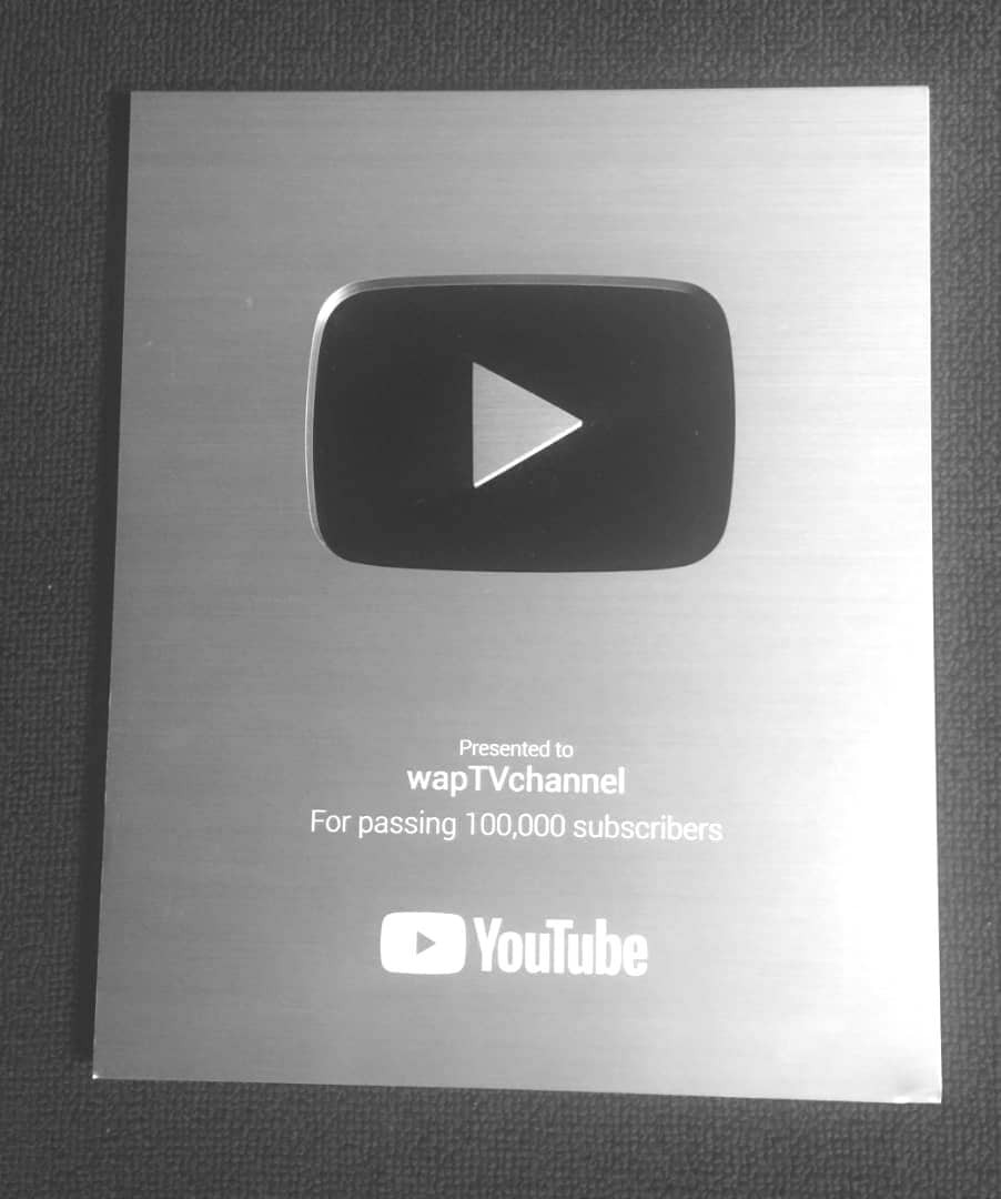 WapTV Awarded with Youtube Plaque