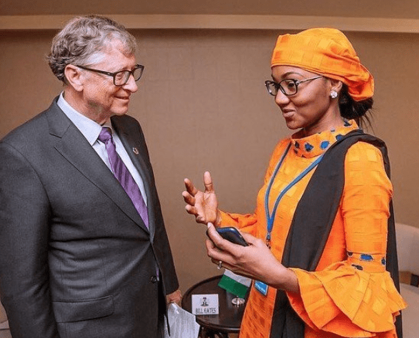 President Buhari's daughter, Zahra meets Bill Gates at the United Nations General Assembly�in New York (Photos)