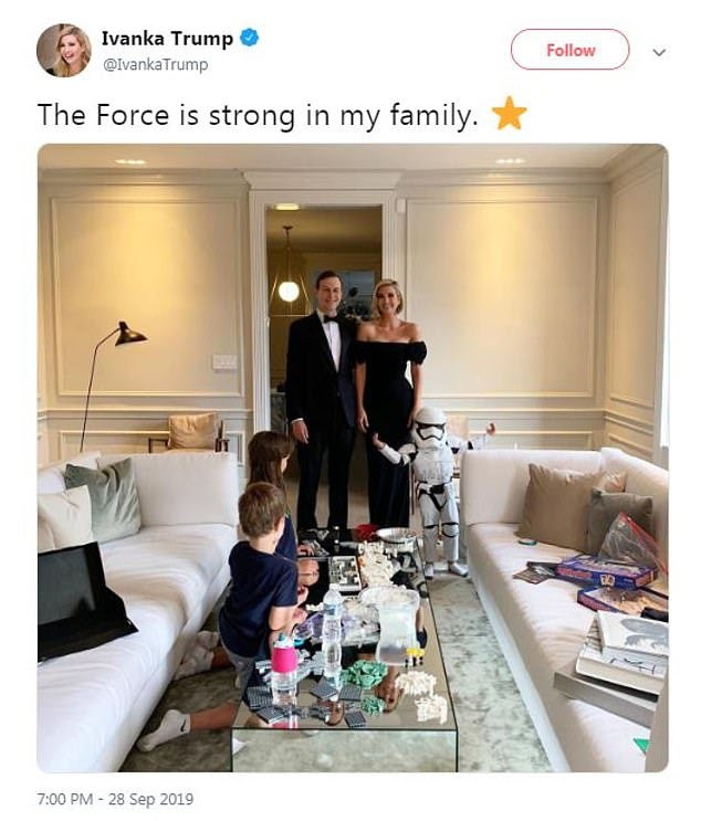 Star Wars actor Mark Hamil calls Ivanka Trump a fraud after she shared photo of her son dressed in Stormtrooper outfit