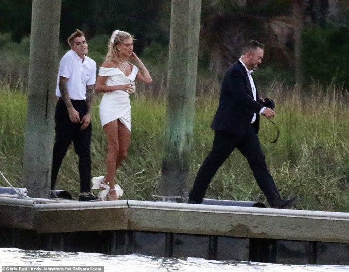 Justin Bieber?and Hailey Baldwin pictured together as they arrive South Carolina for their wedding rehearsal dinner (Photos)