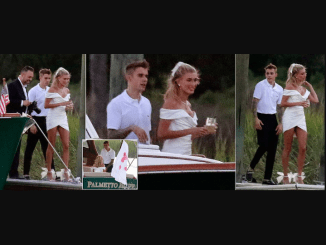 Justin Bieber and Hailey Baldwin pictured together as they arrive South Carolina for their wedding rehearsal dinner (Photos)