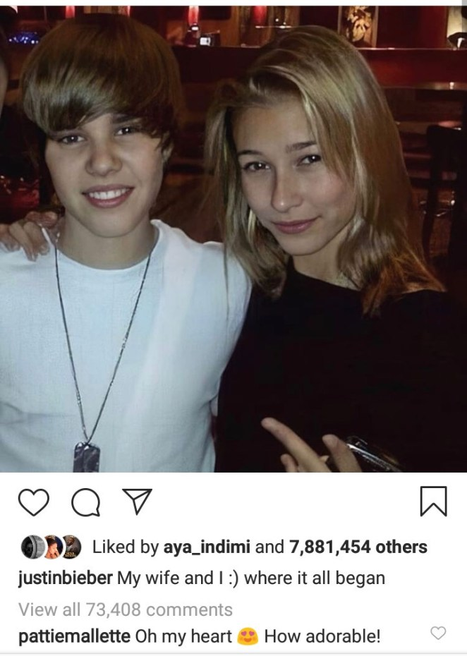 """Thanks for letting your daughter marry a savage like me"" Justin Bieber says as he shares photo of him as a teenager with Hailey and her family"