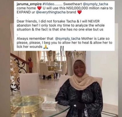 Tacha and Jaruma unfollow each other after N50m 'audio money' promise, Bobrisky drops a shade lindaikejisblog 1