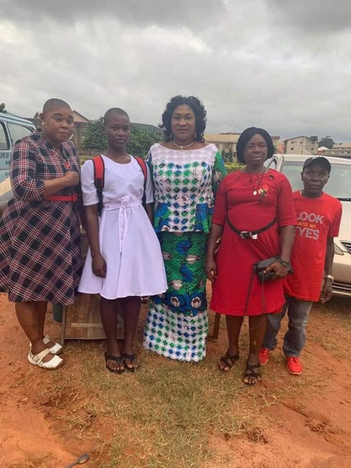 Remember the former Child bride in Anambra state? She has returned to school (photos)