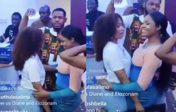 Mercy and Tacha hug each other at Multichoice event (videos)