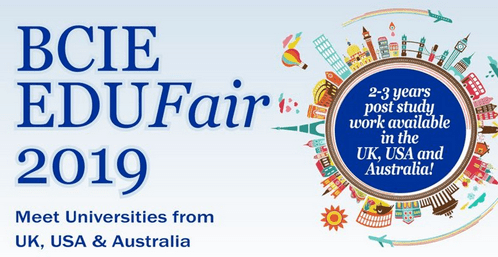 The BCIE Education fair is here again! A World Class Education Opportunity in the UK, USA and Australia