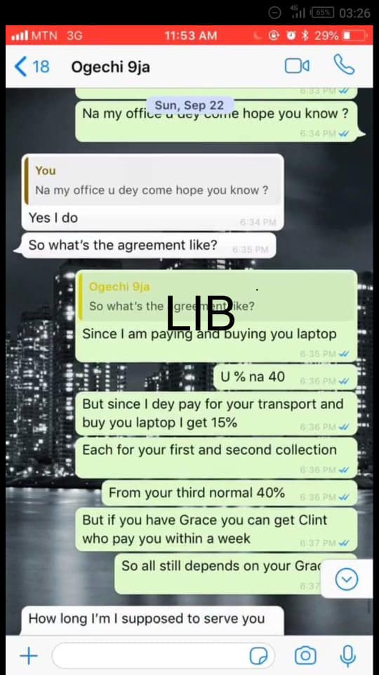 Nigerian lady who said she was raped after she traveled to Ghana to learn forex from a classmate, allegedly went to learn yahoo-yahoo lindaikejisblog 3