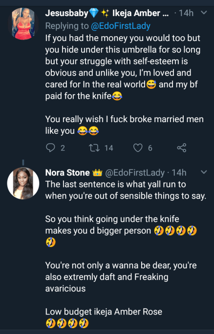 Things get heated as two ladies drag each other on Twitter over who is more superior