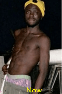 Nigerian Porn Star, Kingtblakhoc shares his before and after photos but fans think he is sick ( see photos)
