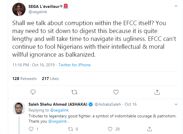 Segalink tackles EFCC for criminalization of innocent young Nigerians and turning a blind eye to