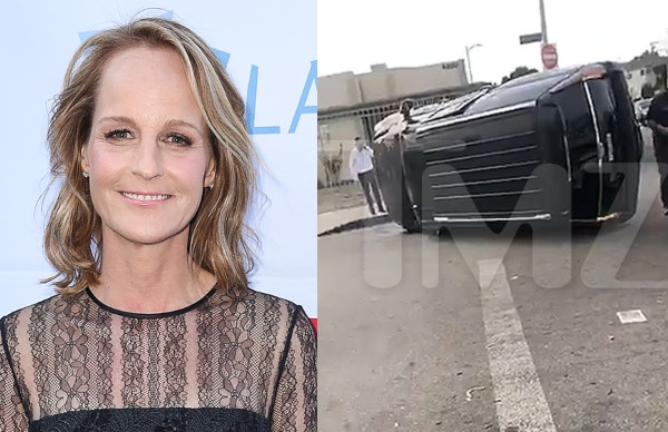 Actress Helen Hunt hospitalized after car accident