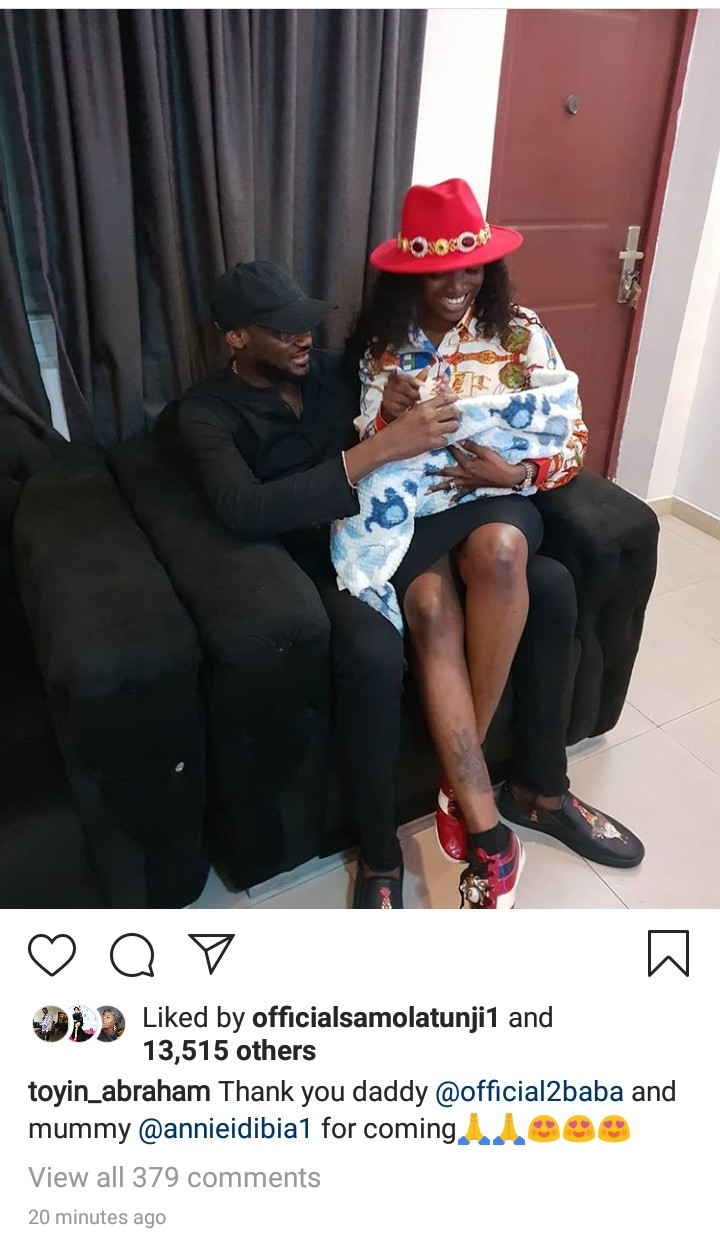 Photo of Annie Idibia sitting on Tuface