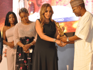 While Regina Daniels is on baecation with Ned Nwoko in Dubai, his Morrocan wife Leila received an award on his behalf in Abuja (Photos)