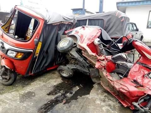 Three killed, two critically injured as truck loses control, rams into filling station in Akwa Ibom