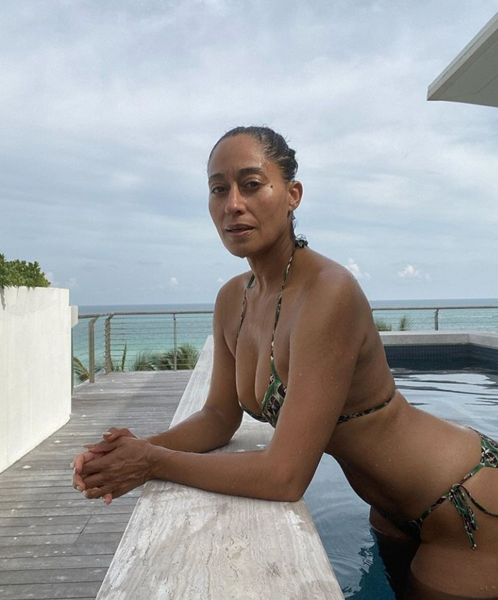 Tracee Ellis Ross shows off her incredible body in bikini as she celebrates turning 47