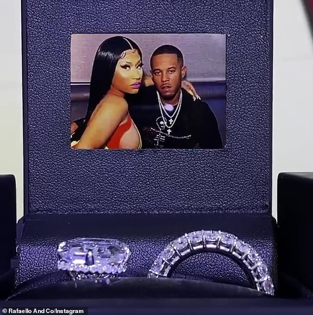 Nicki Minaj flaunts gigantic $1.1M wedding ring bought by her husband Kenneth Petty as they share new Halloween photos