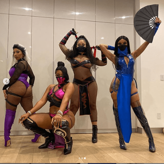 Jordyn Woods and Megan Thee Stallion?ooze sex appeal?in Mortal Kombat costumes for Halloween (Photos)