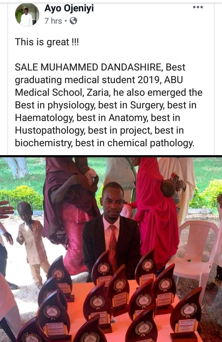 Best graduating medical student from ABU Zaria packs 13 awards after he emerged best in all the medical school subjects