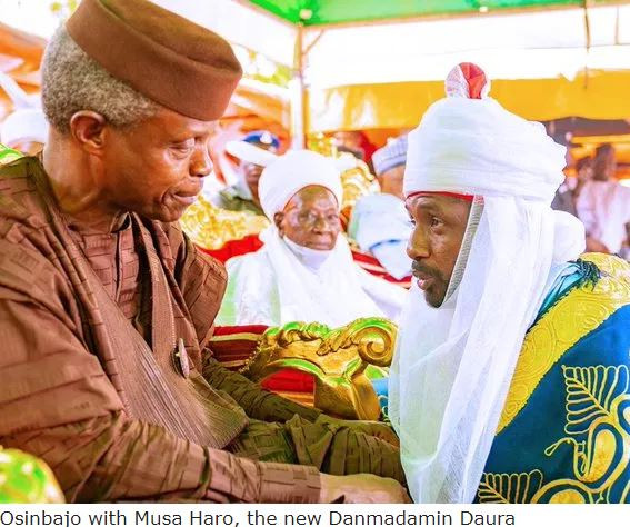 You are the most trustworthy VP ever -?Emir of Daura tells?Osinbajo