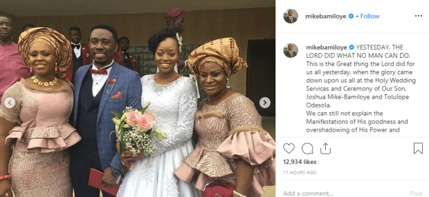 Photos from wedding ceremony of Mike Bamiloye