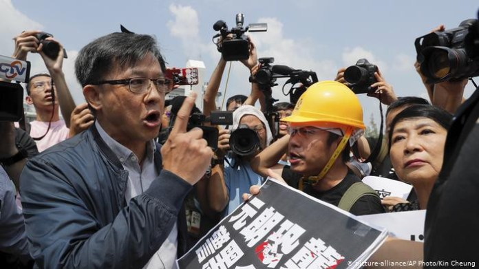 Pro-Beijing lawmaker, Junius Ho stabbed during campaign in Hong Kong (video)