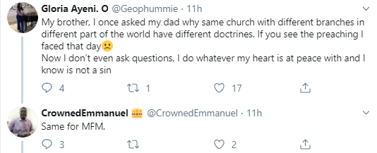 """I guess the God there is not """"strict"""" - Twitter users question why Nigerian churches have different rules for their Nigerian members and for foreign church members"""