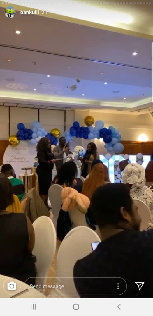 Photos from naming ceremony of Davido and Chioma