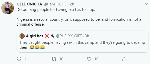 Corps members will allegedly be decamped after they were caught having sex in Kano NYSC camp