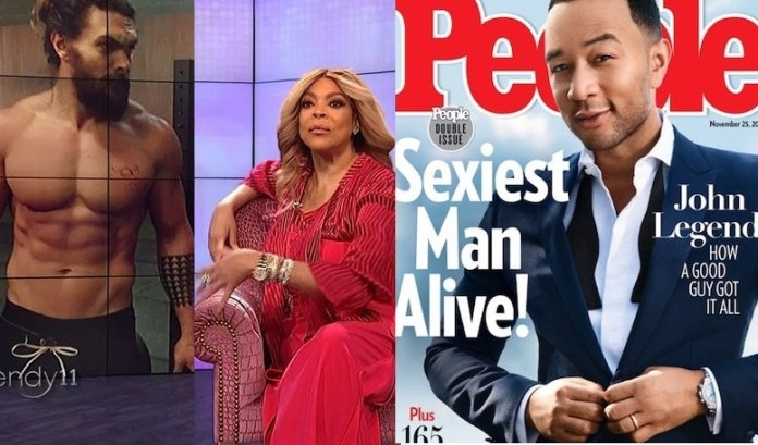 Wendy Williams says she would rather see Jason Momoa win Sexiest Man Alive over John Legend