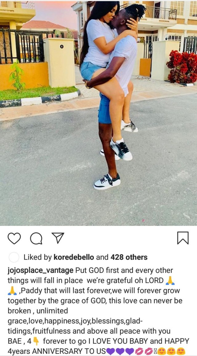 Akpororo recalls travelling to Ibadan 4/5 times a week to court his wife as the couple shower each other with love on their 4th wedding anniversary