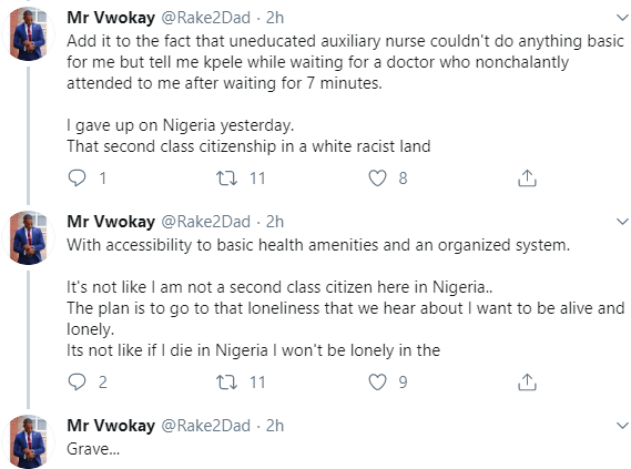 """""""I gave up on Nigeria yesterday"""" Man narrates his unpleasant experience after his gas exploded and burnt him"""