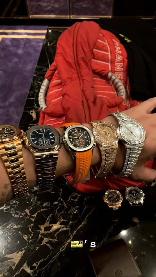 Drake shows off some of his watch collection on Instagram?(Photo)