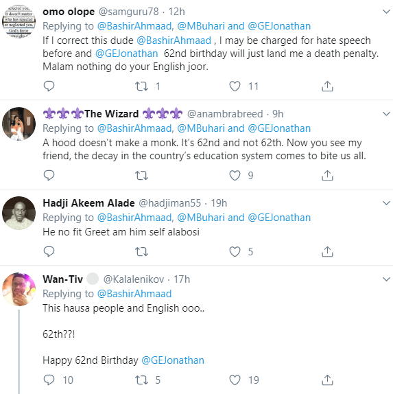 Savage Nigerians react to the grammatical error in Bashir Ahmed