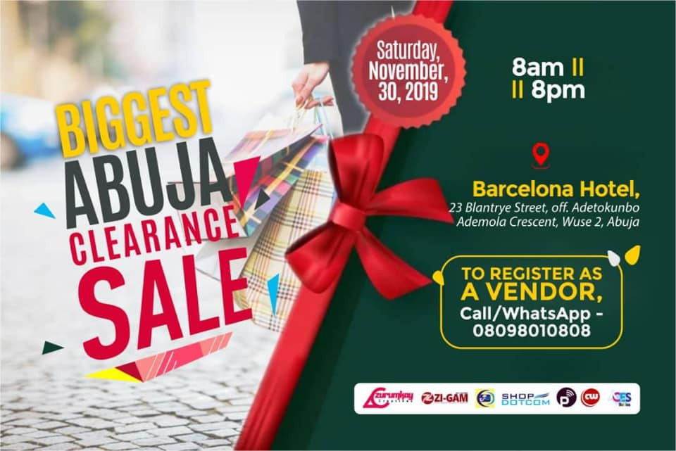 Up to 75% Discount at the Biggest Abuja Clearance Sales