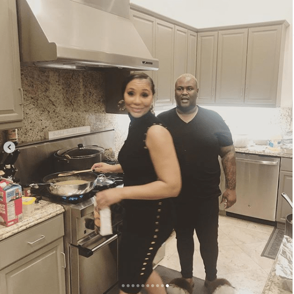 Tamar Braxton and David Adefeso celebrate their 1st Thanksgiving as a couple with their families in attendance (Photos)