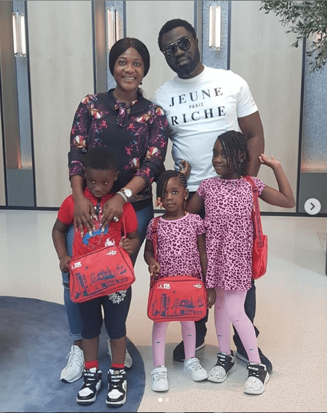 Beautiful photos of Mercy Johnson and her husband and their children?