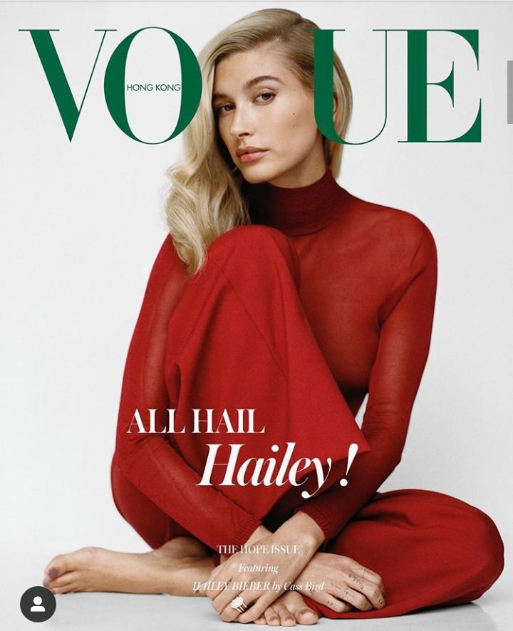 Hailey Baldwin Bieber covers Vogue Hong Kong