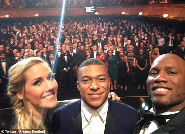 See how Didier Drogba fulfilled a 10-year debt to Kylian Mbappe at the 2019 Ballon d