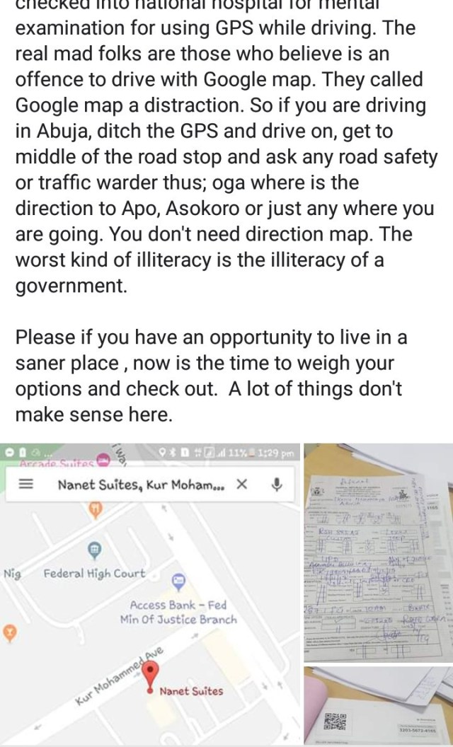 Development consultant, Mary Ikoku arrested by FRSC for driving in Abuja with the aid of Google Map
