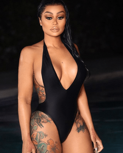 Image result for Blac Chyna flaunts her assets as she poses in a sexy swimsuit