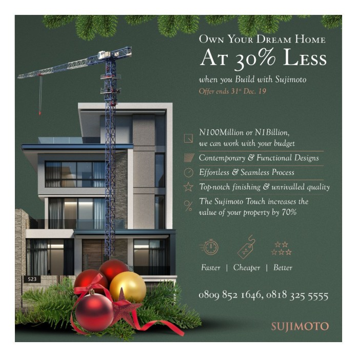 From Private Villas to Offices, Renovations to Alterations, Sujimoto will deliver your dream home in just 6 Months!