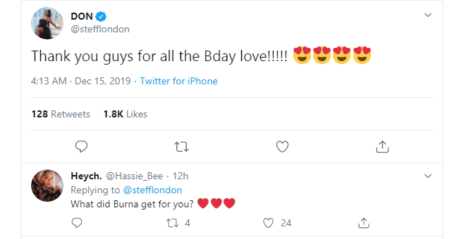 Just some good d**k would do for my birthday - Stefflon Don reveals what she wants from Burna Boy on her birthday