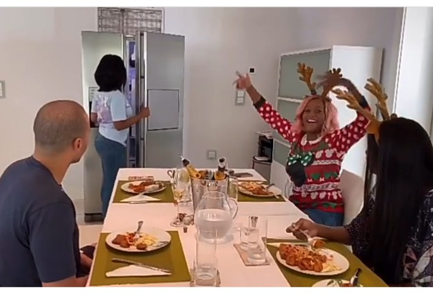 DJ Cuppy puts 500K in the fridge as a Christmas gift to her manager (video)