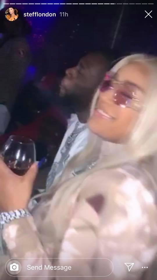 Burna Boy and Stefflon Don hit the strip club, throw money on strippers ( 18+ photos)